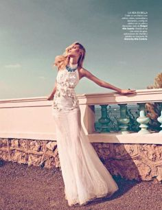 Dioni Tabbers in Givenchy, Vogue Spain editorial December 2011