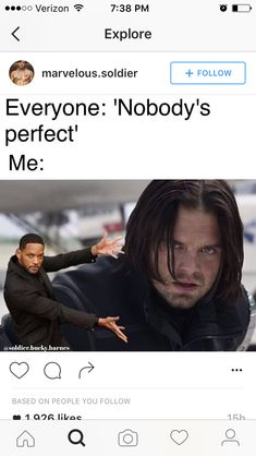 Right? Are they talking about Sebastian Stan or Bucky? Oh well it doesn't matter bc they are both perfect