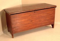 Early American Antique Six Board Pine Blanket Chest circa 1800