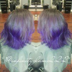 HAIR BY IG: @INFINITYGLAM222  #BALAYAGE #TRACYSALON #HAIR #HIGHLIGHTS #BLONDEHAIR #CARAMELHIGHLIGHTS #BROWNCHOCOLATEHAIR #LIGHTHAIR #HAIRSTYLE #WAVECURLS #LOOSECURLS #purplebalayage #purplehair