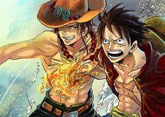 Monkey D. Luffy & Portgas D. Ace - One Piece,Anime