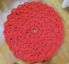 Alfombra Roja, Crochet, Accesorios, Hogar, Jardín, Hogar, Alfombras, Textil, Alfombras