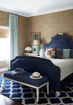 Room in deep blue