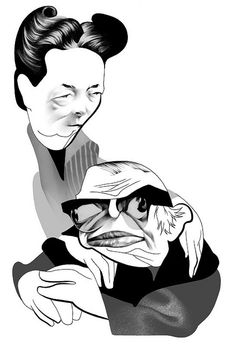 Jean-Paul Sartre and Simone de Beauvoir by André Carrilho, via Flickr