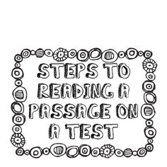These are the test taking strategies my students use on the state assessment and practice comprehension passages.  There are five steps I ask them ...