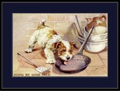 """English Picture Print of an adorable Sealyham Terrier Puppy Dog helping to clean up. Also, I have a large inventory of English Dog Picture Prints. The word """"Sample"""" does not appear on the print. Sealyham Terrier, Terrier Dogs, Terriers, Print Pictures, Dog Pictures, English Spaniel, Scottish Terrier Puppy, English Dogs, West Highland Terrier"""