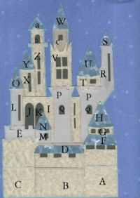 Paper piecing template for Cinderella's castle.  Meant for scrapbooking, but could be adapted to quilting. :)