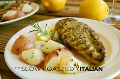 The Slow Roasted Italian - Printable Recipes: Simple Rosemary Lemon Marinade and Grilled Chicken High Protein Chicken Recipes, Grilled Chicken Recipes, Chicken Flavors, Margarita Chicken, Tequila Lime Chicken, Lemon Rosemary Chicken, The Slow Roasted Italian, Cooking Recipes, Healthy Recipes