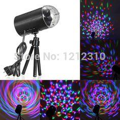 UE/EUA Plug Novo RGB 3 W Cristal Magic Ball Stage Iluminação Laser Para Festa Disco DJ Bar Lâmpada Show de iluminação