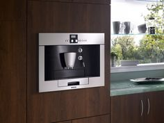 Built-in Coffeemaker. (No counterspace needed). Love. This. http://www.hgtv.com/kitchens/dreamy-kitchen-appliances/pictures/page-9.html?soc=pinterest