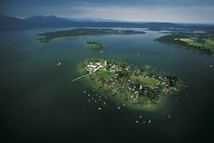 Fraueninsel Island on Chiemsee lake, Bavaria, Germany