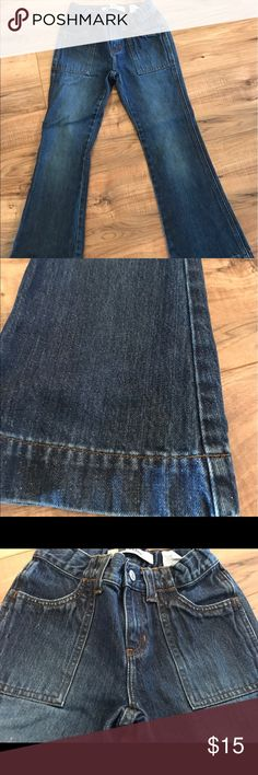 Girls 8 flare jeans Gap brand girls flare jeans size 8. Fabric has glitter content. Like new. GAP Bottoms Jeans