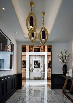 Modern Lighting Design With a Classic Touch Due To Chosen Materials Combination . See more of Kelly Hoppen Interiors 's China IV on Top Interior Designers, Best Interior Design, Luxury Interior, Interior Architecture, Interior Decorating, Luxury Furniture, Foyer Decorating, Decorating Ideas, Lobby Interior