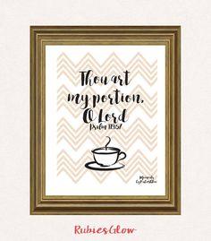 Psalm 119:57 Thou art my portion - Bible quote verse - Bible decor - Christian art - Printable Wall Art - Instant download - Digital Art -