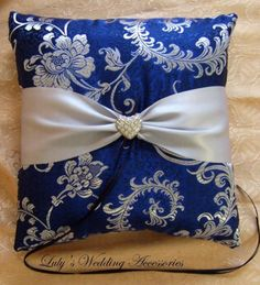 Royal Blue and Silver Grey Wedding Ring B $40.00. FOR ASHLEY T wedding..... egg…