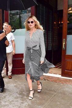 Margot Robbie Wears Altuzarra's Printed Summer Dress in New York - Vogue