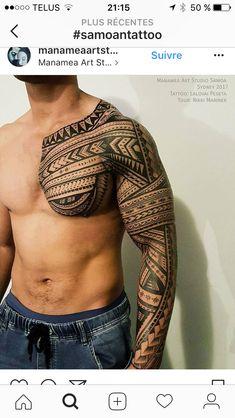 unique Tattoo Trends - Freehand polynesian tattoo, full sleeve and chest. Hawaiianisches Tattoo, Samoan Tattoo, Body Art Tattoos, Hand Tattoos, Tattoo Neck, Buddha Tattoos, Tribal Tattoos For Men, Tribal Sleeve Tattoos, Best Sleeve Tattoos