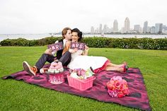 A Rock and Roll Elopement Picnic Styled Shoot  Bride is wearing our Raspberry Hot Pink Tea Length Crinoline $42
