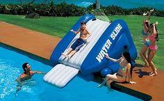 Inflatable Water Slide Pool Toy Kids Waterslide Party Splash Play Home Blow Up