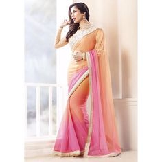 Elegant Georgette Embroidered Work Festive Wear & Party Wear Saree at just Rs.1020/- on www.vendorvilla.com. Cash on Delivery, Easy Returns, Lowest Price.