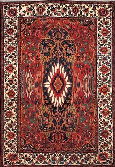 ANTIQUE PERSIAN BAKHTIARI AREA RUG 39831 - AREA RUG This beautiful Handmade Knotted Rectangular rug is approximately 10 x 15 Antique area rug from our large collection of handmade area rugs with Persian Bakhtiari style from Iran/Persia with Wool