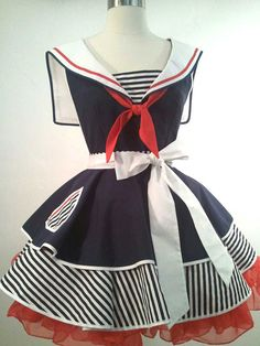 French Maid Apron Pin-up Retro Style Black and White Flirty Skirt ... 0a5541f42b80
