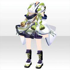 上半身/インナー 巡夏の庭娘スタイルB緑 Manga Clothes, Drawing Clothes, Anime Oc, Anime Hair, Anime Dress, Cocoppa Play, Model Outfits, Themed Outfits, Character Outfits