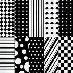 Scrapbook Paper . PRINTABLE . 8.5x11 . Shapes . Black & White . Set of 10 ~ $2.00 ~ printable papers, printable paper, paper, scrapbook paper, scrapbooking paper, b & w, b & w paper, black and white scrapbook paper, black and white paper, black paper, white paper, dark paper, contrast paper, positive and negative paper ~ #hollywoodglam #blackandwhite #blackandwhiteshapes #blackandwhitepaper ~ https://www.etsy.com/listing