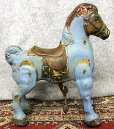 Sebel & Co  Mobo Riding Pony Blue England   Mobo Toys were made in England from 1940 – 1950 by D Sebel & Co Ltd   Kent England This is a Mobo T