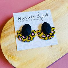 An entire look can be changed just by adding a gorgeous statement earring! We've found the perfect pair by Winnie and Gil creative designs 😍 ~*~ #winnieandgil #earringskirts #earringskirt #polymerclay #polymerclayjewellery #polymerclayearrings #statementearring #statementearrings #statementjewellery #leopardearrings #handmadeearrings #handmadejewellery #earringaddiction #earringlove #handmadeinmelbourne #melbournhandmade #australianhandmade #handmadeinaustralia #madeitau #handmadeau Handmade Jewellery, Handcrafted Jewelry, Earrings Handmade, Handmade Items, Unique Jewelry, Leopard Ears, Mustard Skirt, Polymer Clay Earrings, Home Gifts