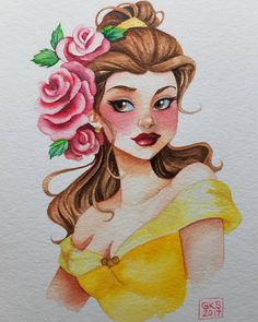 Finished Megara up! #megara #hercules #disneyshercules #disneyprincesses #greekgoddess #watercolorpainting #watercolorillustration