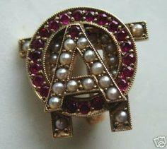 NPC Sorority Badges: Alpha Omicron Pi