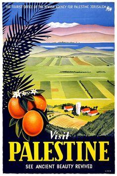 Vintage Travel Posters - Visit Palestine