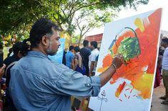 awesome painting at 10th raahgiri day bhubaneswar