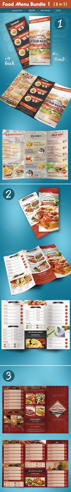 Restaurant Menu A4 Vol 4 Food menu, Menu and Menu templates - food menu template