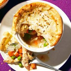 Mini Chicken Pot Pies - 300 Cal. from Fitness Magazine