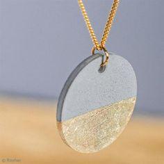 Moule à bijou pour béton Rayher - Ronde - 3,9 cm - Photo n°2