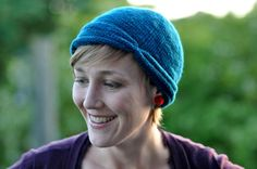 This hat is knit top down. It's very fast and simple, but has a nice striking effect.