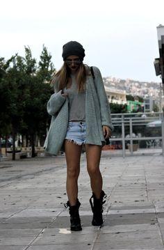 Zara outfit, H & M beanie.