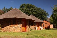 Remote lodge located less than two-thousand meters in the mountains of Southwest Lesotho, South Africa. Natural Structures, Outdoor Structures, Secret Hideaway, Vernacular Architecture, Tropical Houses, Rustic Design, Traditional House, Lodges, All Over The World