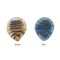 The guitar player would love to strum his heart away on these beautiful handmade glass picks ($20) that create a sound unlike anything he's ever heard.