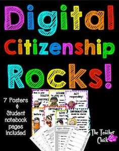 Use these posters to launch a conversation about digital citizenship! They can be posted in the room as a constant reminder. There are also student notebook pages for students to complete.