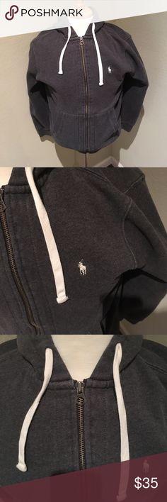 Ralph Lauren full zip hoodie sweatshirt. Medium Great full zip sweatshirt, 100 percent cotton, pics say it all! Pre shrunk Polo by Ralph Lauren Sweaters Zip Up