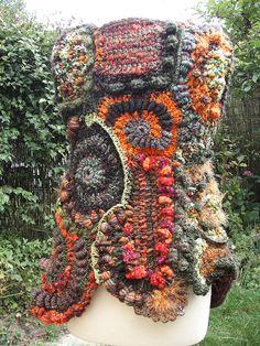 freeform crochet jacket, back