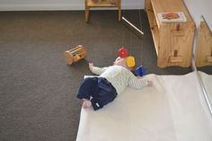 Baby play space with mirror