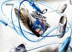 #OnitsukaTiger #오니츠카타이거 #기초디자인 #입시미술 #건국대기초디자인 #그림스타그램 #신발그리기 #운동화그리기 #그림 #미술학원…
