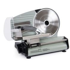 Della meat slicer is perfect for slicing deli meats or vegetables swift and efficiently. This slicer pays for itself by allowing you to buy deli meats in bulk, slicing it when needed and then freezing Veggies Kitchen, Appliance Covers, Modern Holiday Decor, Meat Slicers, Deep Fryer, Healthy Diet Recipes, Meat Recipes, Digital Thermometer, Great Restaurants