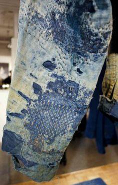 Folk repair: emerging denim trend