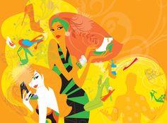 Macy's Shoe Diva, Lisa Henderling Illustration