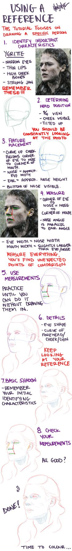 A portrait tutorial in response to a tumblr ask. Let me know if you have any questions! NOTE: Measuring is really the most important step (in my opinion). Really, MEASURE EVERYTHING ITS SUPER HELPF...